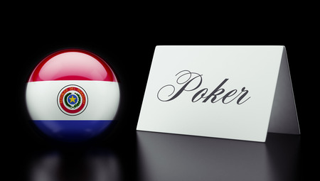 american roulette: Paraguay High Resolution Poker Concept