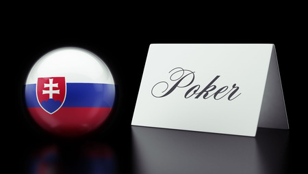 wining: Slovakia High Resolution Poker Concept Stock Photo