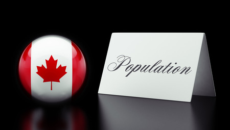 Canada High Resolution Population Concept photo