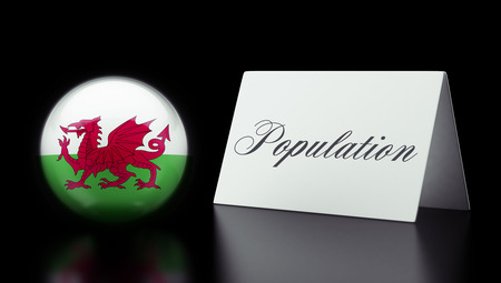 humane: Wales High Resolution Population Concept Stock Photo