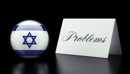 inaccurate: Israel High Resolution Problems Concept Stock Photo
