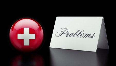 rectify: Switzerland High Resolution Problems Concept Stock Photo