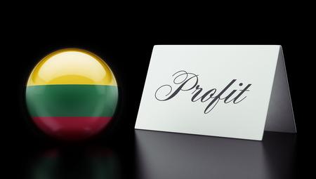 lithuania: Lithuania High Resolution Profit Concept