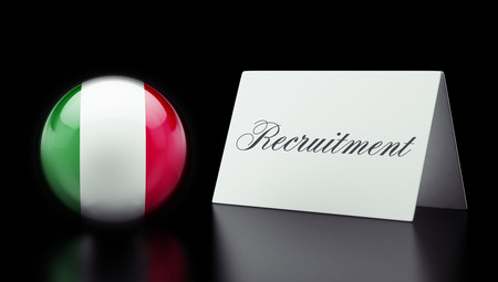 contracting: Italy High Resolution Recruitment Concept