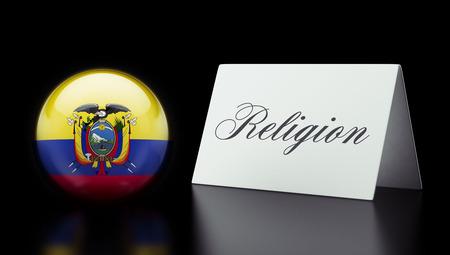worshipper: Ecuador High Resolution Sign Concept Stock Photo