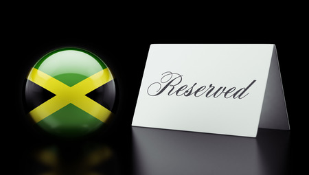 reserved: Jamaica High Resolution Reserved Concept Stock Photo