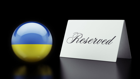 reserved: Ukraine High Resolution Reserved Concept Stock Photo
