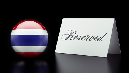 reserved: Thailand High Resolution Reserved Concept