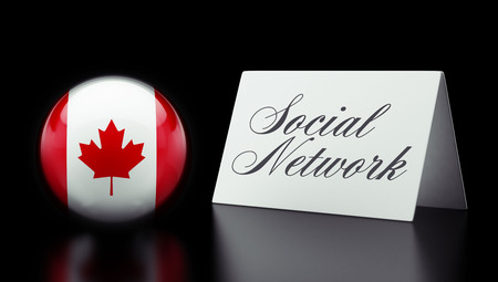 Canada High Resolution Social Network Concept photo