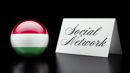 Hungary High Resolution Social Network Concept photo
