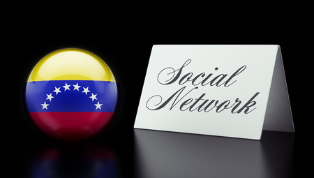 Venezuela High Resolution Social Network Concept photo