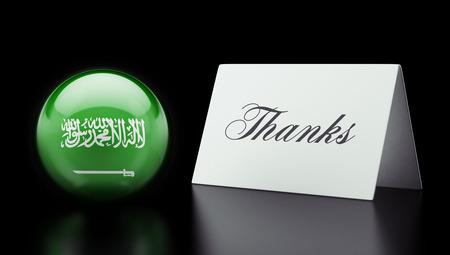 Saudi Arabia High Resolution Thanks Concept
