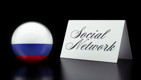 Russia High Resolution Social Network Concept photo
