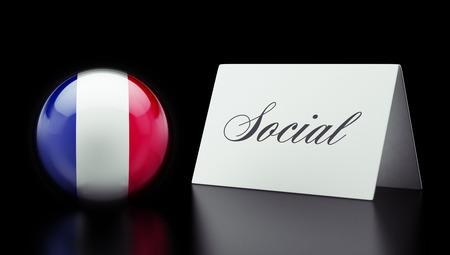 societal: France High Resolution Social Concept
