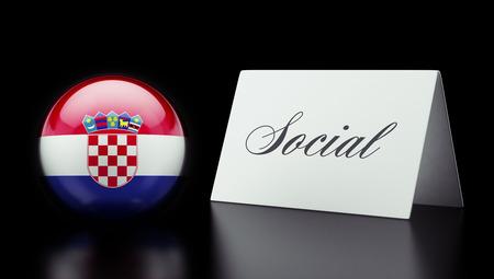 societal: Croatia  High Resolution Social Concept