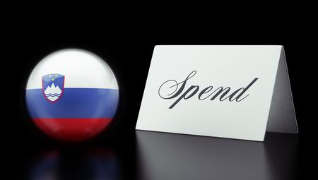 Slovenia High Resolution Spend Concept Stock Photo
