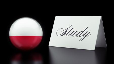 study concept: Poland High Resolution Study Concept Stock Photo