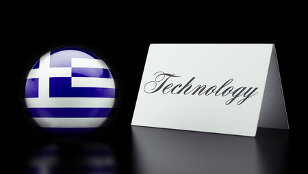 Greece High Resolution Technology Concept photo