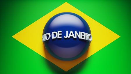 janeiro: Rio de Janeiro High Resolution Concept Flag