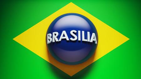 brasilia: Brasilia High Resolution Concept Flag