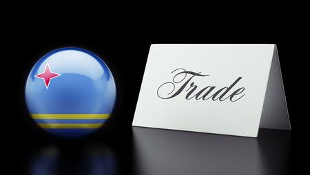 Aruba High Resolution Trade Concept photo