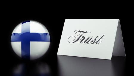 confianza concepto: Finlandia alta Resolution Trust Concept Foto de archivo