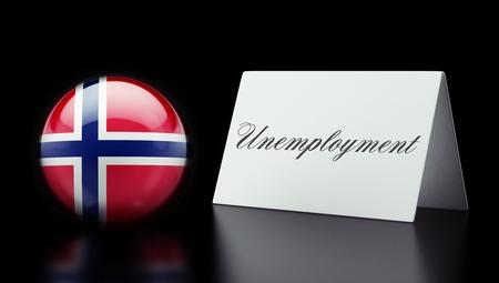 Norway High Resolution Unemployment Concept photo