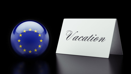 recess: European Union High Resolution Vacation Concept Stock Photo