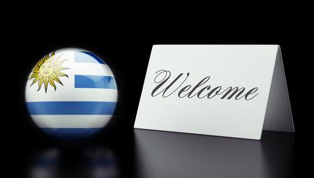 appreciated: Uruguay High Resolution Welcome Concept Stock Photo