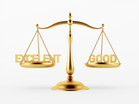 scale of justice: Justice Scale Concept isolated on white background