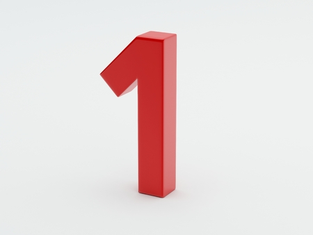 whote: Shiny Number isolated on whote background Stock Photo
