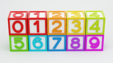 Box Number Toy isolated on white background Stock Photo - 29050127