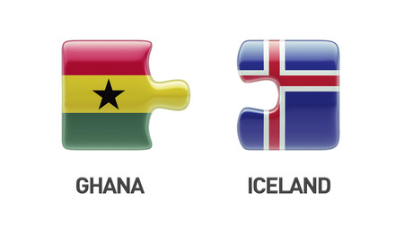 Iceland Ghana High Resolution Puzzle Concept photo