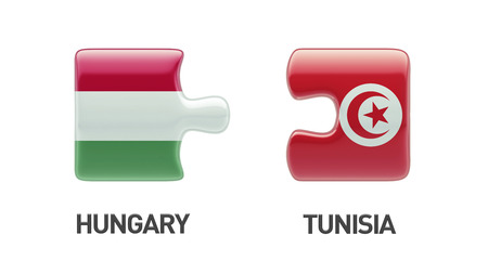tunisie: Tunisia Hungary High Resolution Puzzle Concept