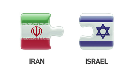Israel Iran High Resolution Puzzle Concept photo