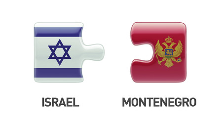 Montenegro  Israel High Resolution Puzzle Concept photo