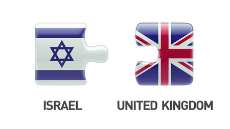 United Kingdom Israel High Resolution Puzzle Concept photo