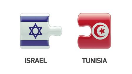 tunisie: Tunisia Israel High Resolution Puzzle Concept Stock Photo