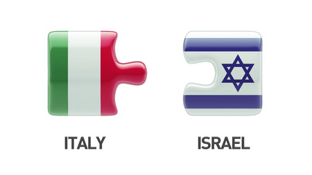 Italy Israel High Resolution Puzzle Concept photo
