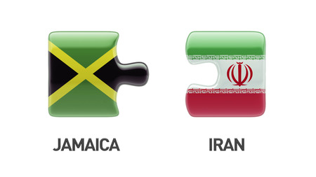 Jamaica Iran High Resolution Puzzle Concept photo