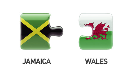Wales Jamaica High Resolution Puzzle Concept photo