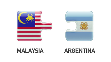 Argentina Malaysia High Resolution Puzzle Concept photo