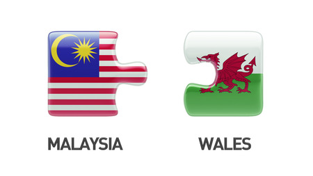 Wales Malaysia High Resolution Puzzle Concept photo