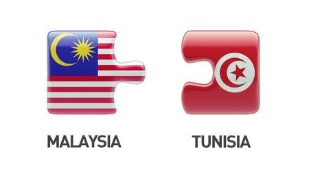 tunisie: Tunisia Malaysia High Resolution Puzzle Concept
