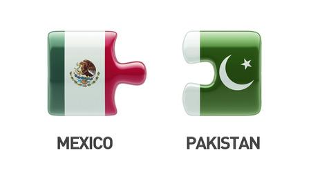 pakistani: Pakistan Mexico High Resolution Puzzle Concept