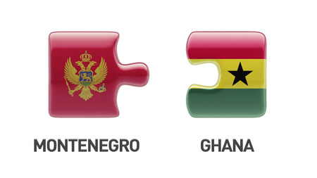 Montenegro  Ghana High Resolution Puzzle Concept photo