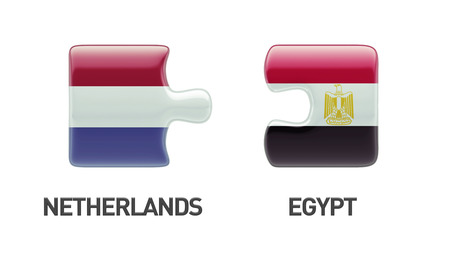 Egypt Netherlands High Resolution Puzzle Concept photo
