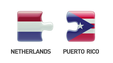 Puerto Rico Netherlands High Resolution Puzzle Concept photo