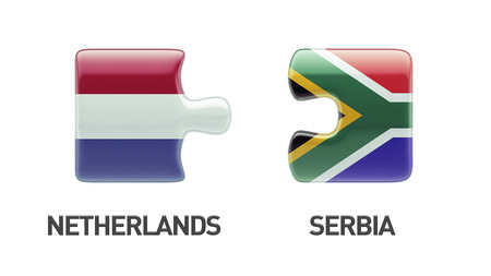 South Africa Netherlands High Resolution Puzzle Concept photo