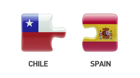 Spain Chile High Resolution Puzzle Concept photo